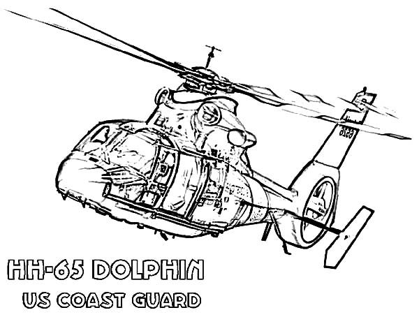 Coast Guard Helicopter Coloring Pages