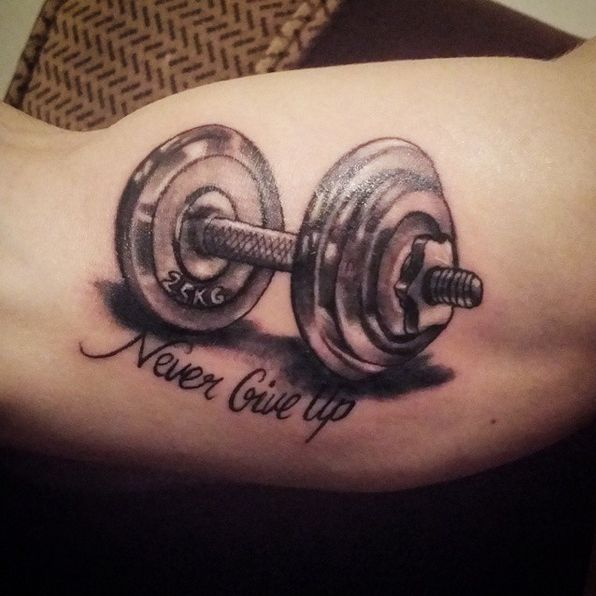 Similar to this but i want it to say be stronger than for Weightlifting tattoo designs