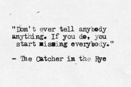The Catcher in the Rye inspiring Pinterest Catcher