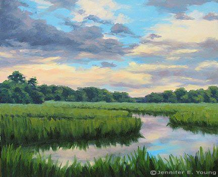 Low Country Marsh Art Print Landscape Art Landscape