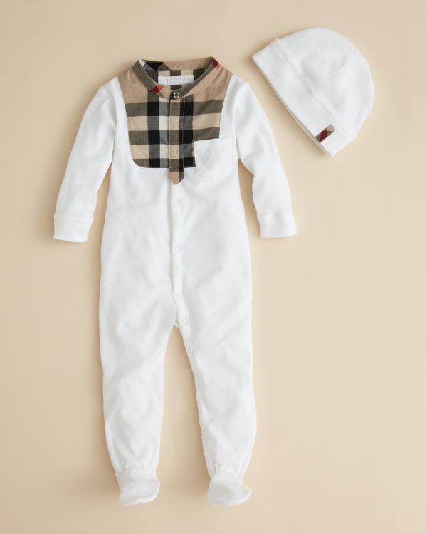 Burberry Infant Boys  Leslie Footie   Hat - Sizes 0-12 Months ... 0762e95db95