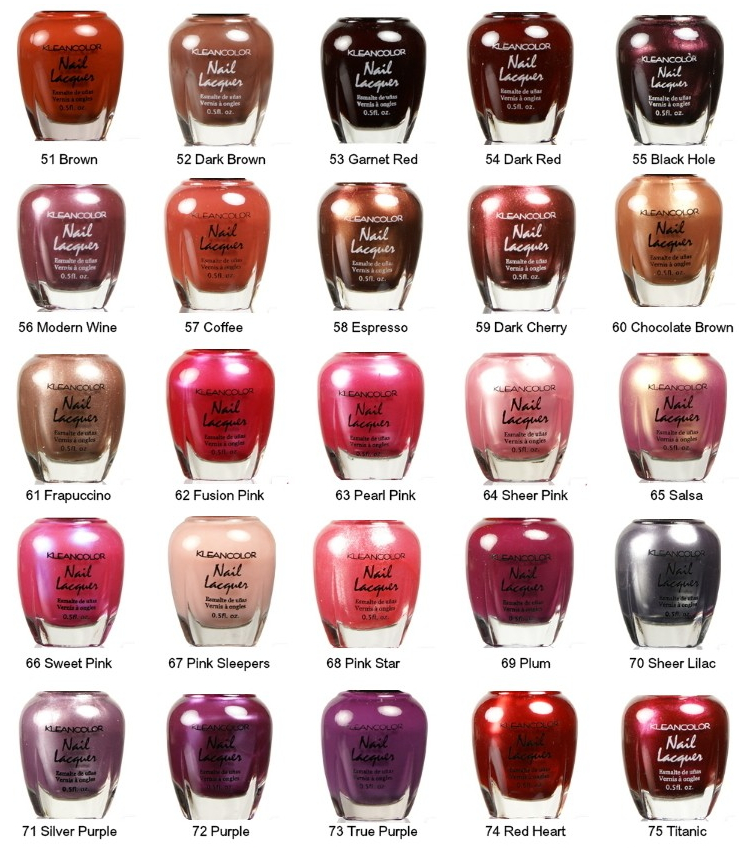 Nail Polish Color Names