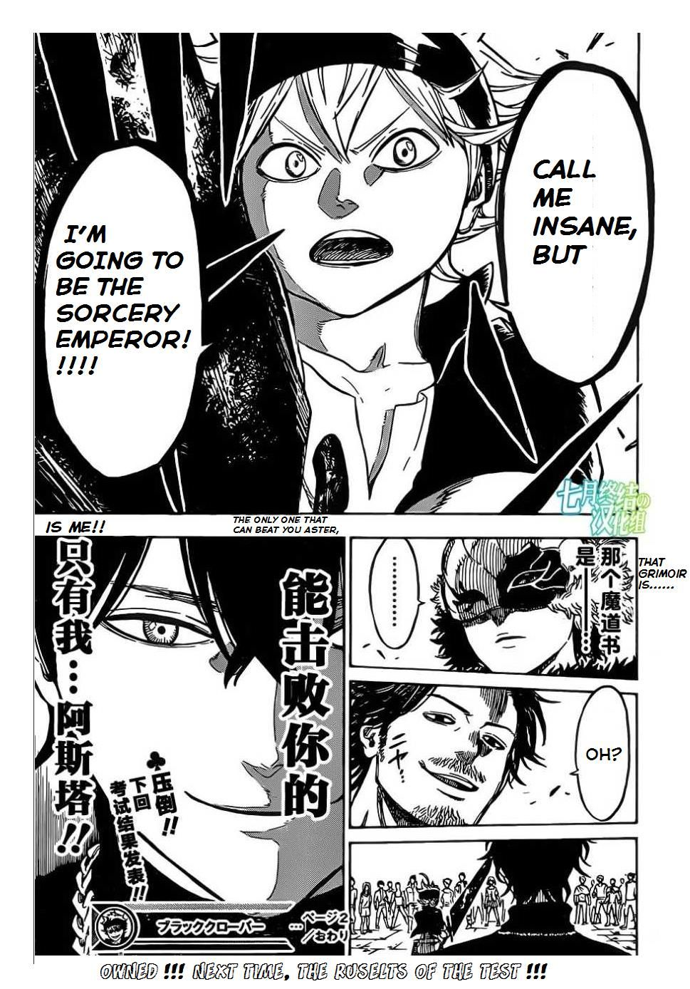Read manga Black Clover Ch.002 online in high quality