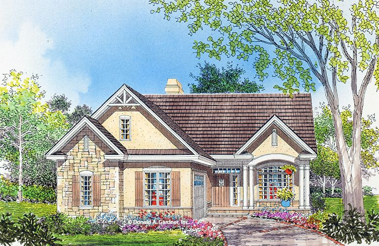 Home Plan The Heathrow By Donald A Gardner Architects Cottage Style House Plans Craftsman Floor Plans Craftsman Style House Plans