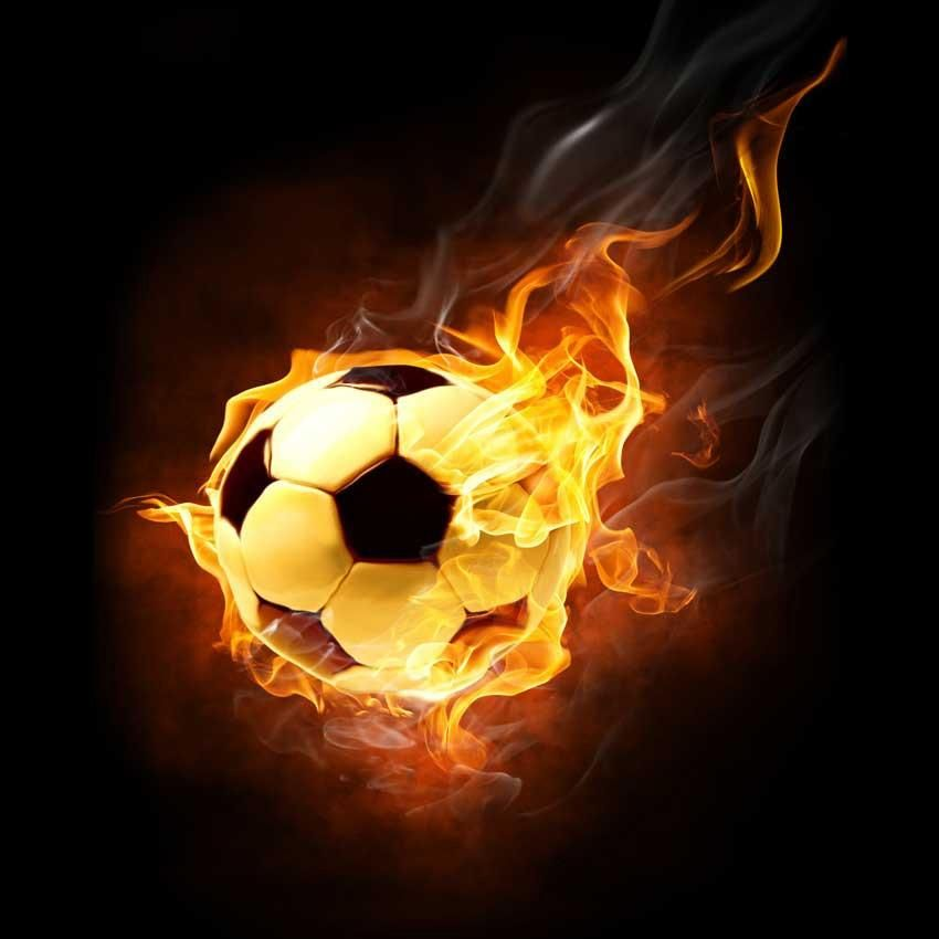 Fire Soccer Ball Backdrop 692 Soccer Ball Background For Photography Soccer