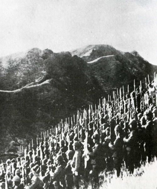 Troops of the Japanese 15th Army prepare to cross the border into Burma (now Myanmar), then a territory of the British Empire. Siam (now Thailand). December 1941.