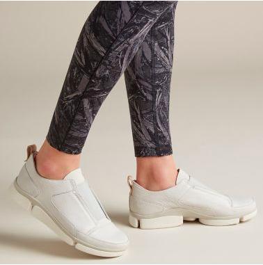 Clarks Women's Tri Form Light Grey Leath