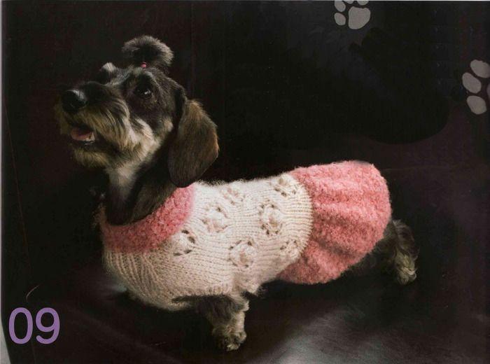 вязание спицами для собак схемы вязание для собак одежда для