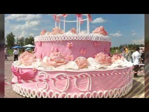 Marvelous The Biggest Cakes In The World Youtube Big Birthday Cake Big Funny Birthday Cards Online Fluifree Goldxyz