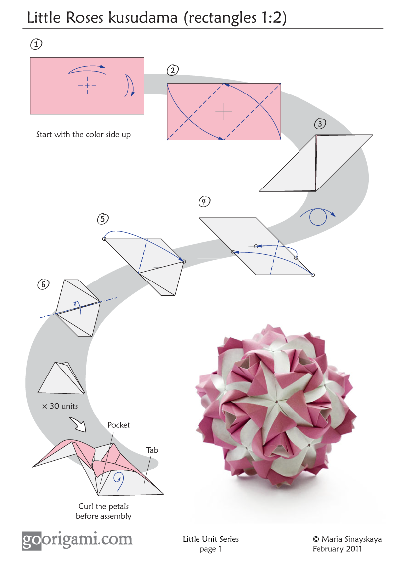 Origami Angel Step By Diagram 2013 Ford Explorer Wiring Flowers Instructions Great Installation Of Little Roses Kusudama Don T Think I Have The Patience But Rh Pinterest Com Easy Dragon