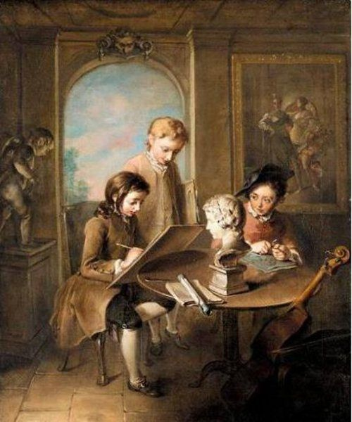 The Young Artists, Philippe Mercier