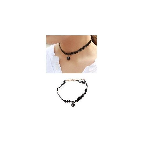 Ball-Pendant Choker ($25) ❤ liked on Polyvore featuring jewelry, necklaces, accessories, black jewelry, ball pendant necklace, brass jewelry, brass necklace and black choker