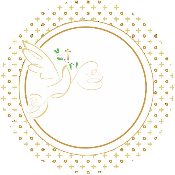 Confirmation Baptism Favor Sticker