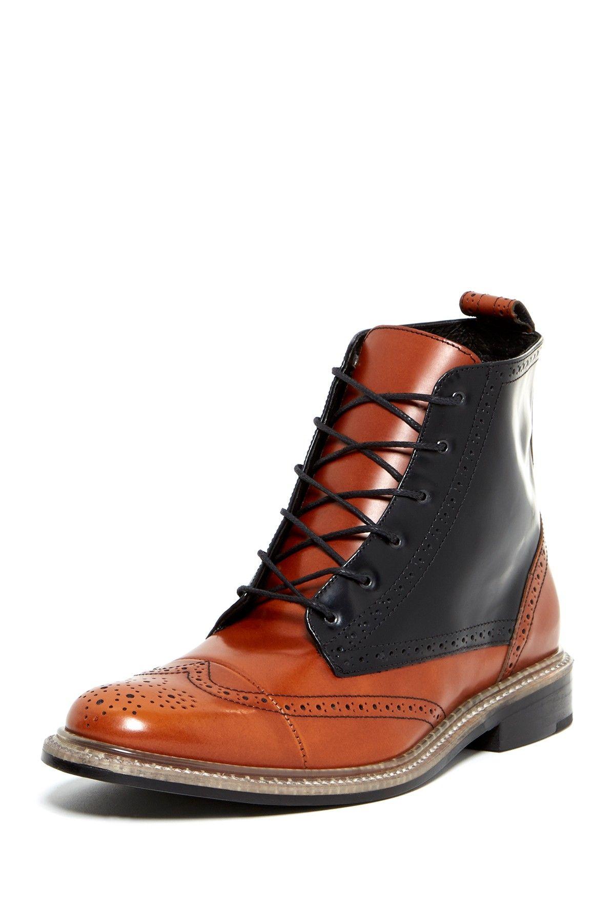 J.D. Fisk Nicholson Wingtip LaceUp Boot Mens boots
