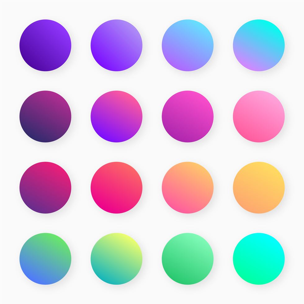 Trendy Colorful Gradient Swatches Vector (With images
