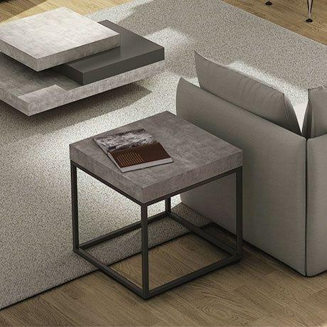 Monoqi Concrete Side Table Coffee Table Slate Coffee Table Concrete Furniture