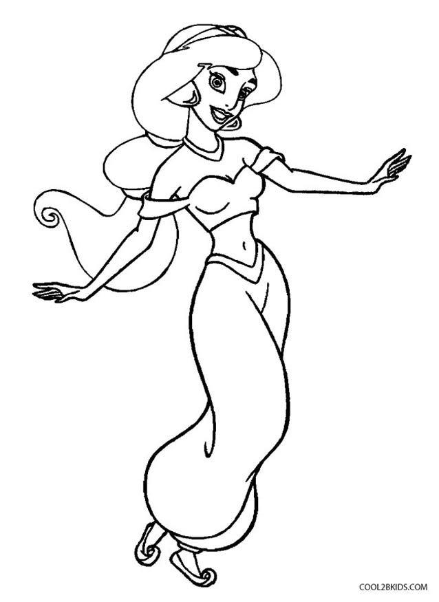 Jasmine Coloring Pages With Images Disney Princess Colors