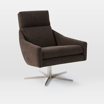 Strange West Elm Austin Swivel Armchair Products Swivel Armchair Theyellowbook Wood Chair Design Ideas Theyellowbookinfo