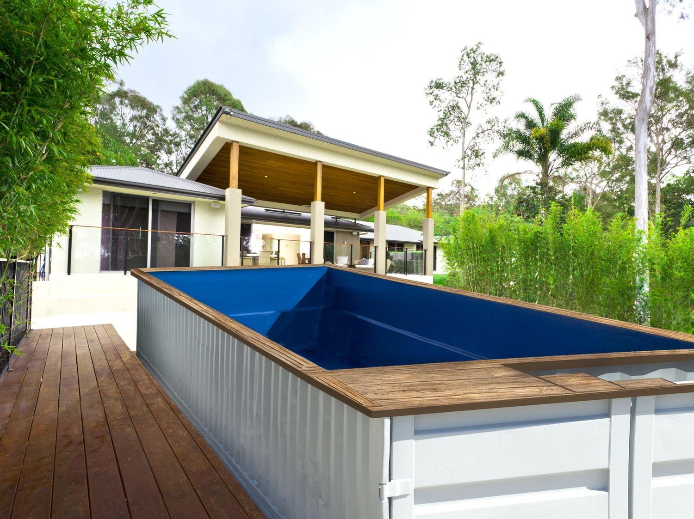 Shipping container pool pools pinterest piscinas casas y casas de contenedores - Container piscina ...