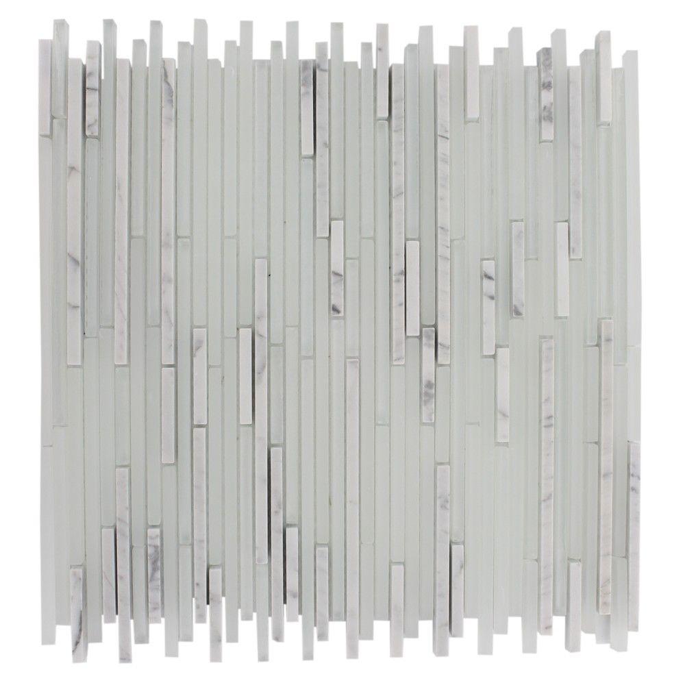 Sample Carrara White Marble Mint Glass Random Linear: Shop For Breeze Stylus Carrera Ice Pattern 1/8 X Random