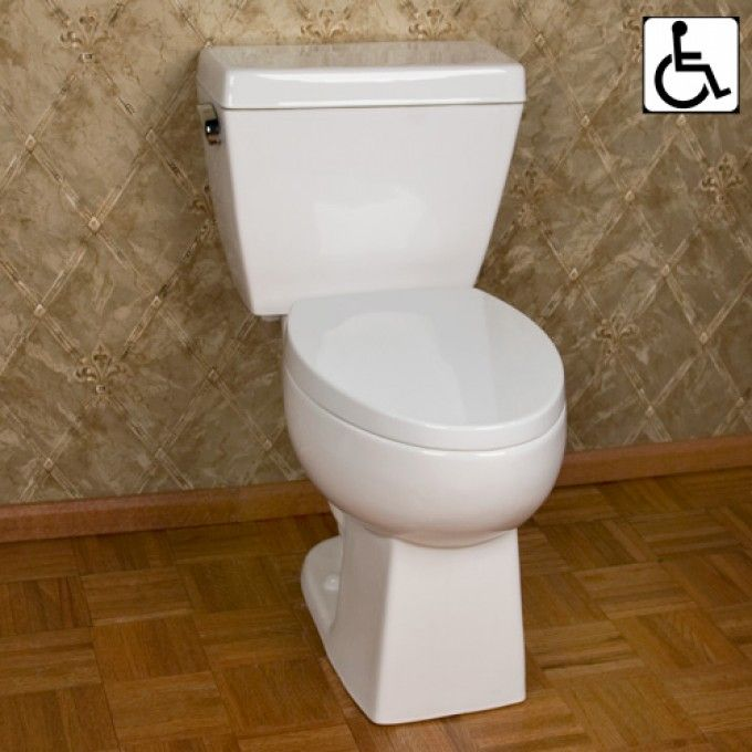 Moda Siphonic Decorative Two-Piece Elongated Toilet - ADA Compliant - White - Toilets and Bidets - Bathroom 26D - $249
