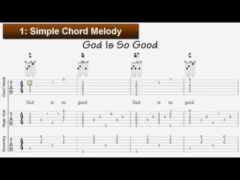 Learn Sunday School Songs For Guitar God Is So Good Tablature