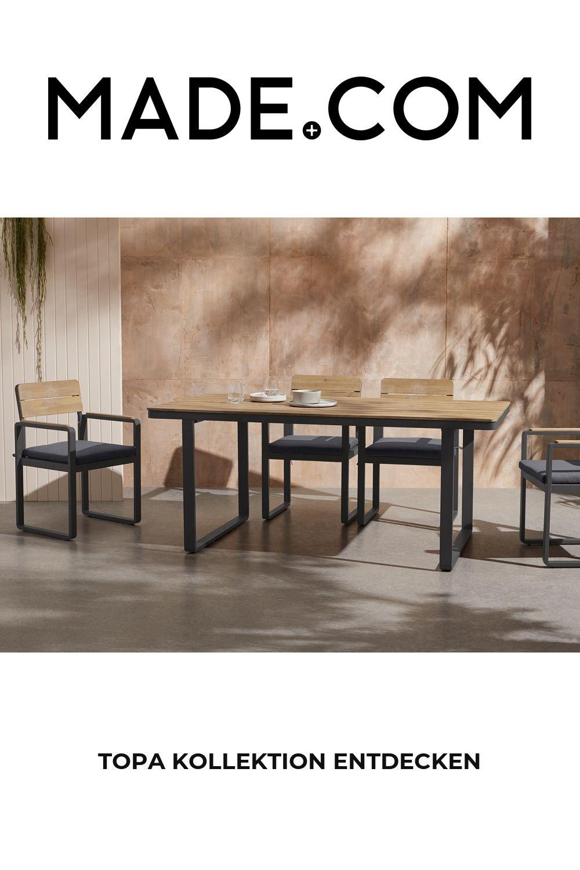 Made Garten Essgruppe Helles Holz In 2020 Dining Bench Dining Set Home Decor