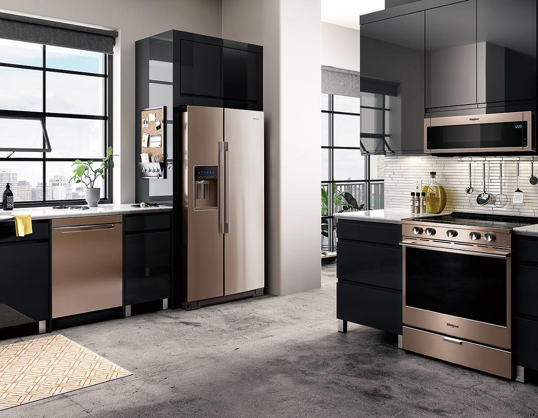 Rose Gold Appliances Home Kitchens Kitchen Design Rose Gold