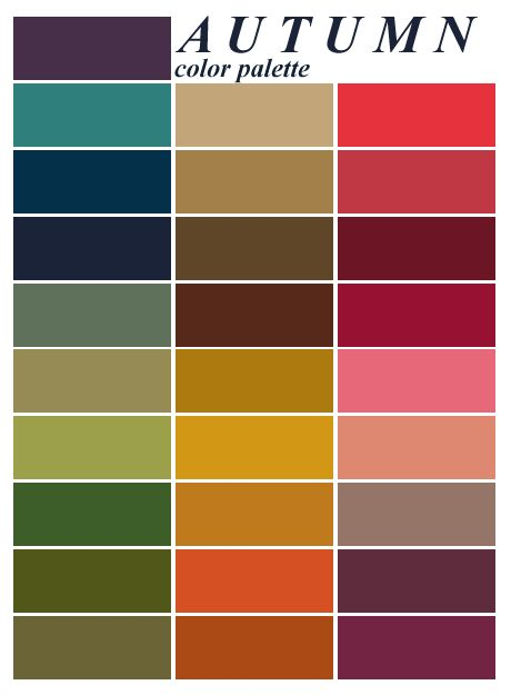 Autumn Colors Painting It Pinterest Farben Farbpalette And Herbst