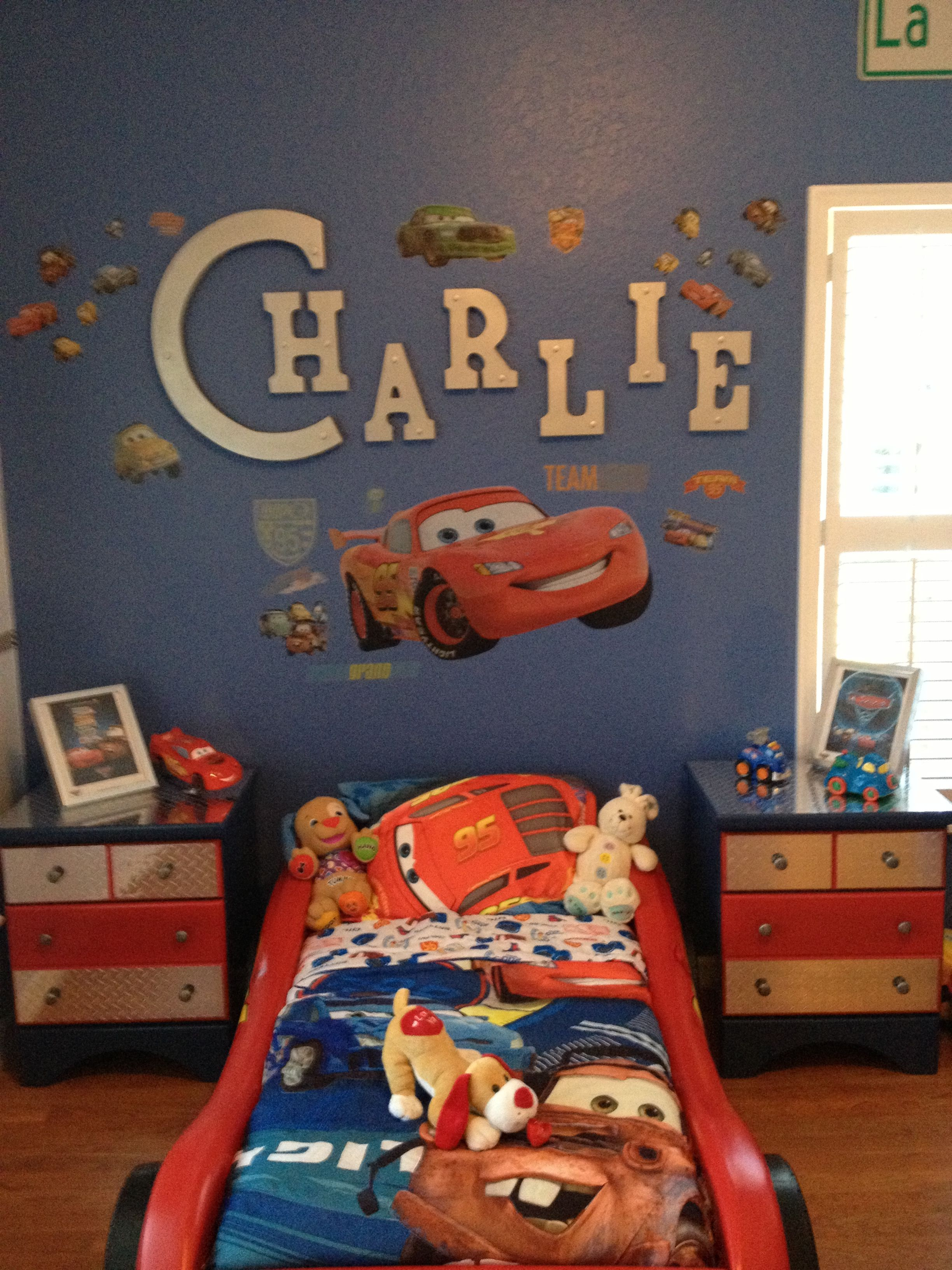 wonderful car themed bedroom | cars theme bedroom | boys bedroom in 2019 | Car themed ...