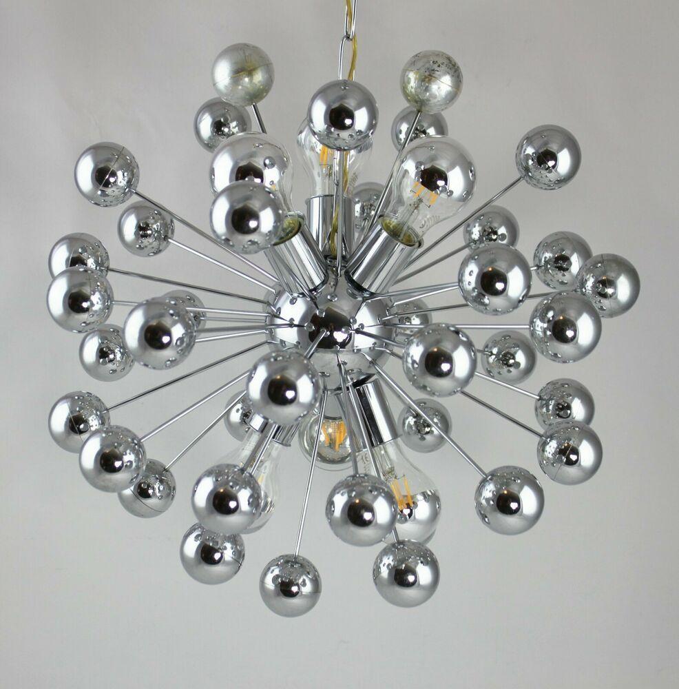 LAMP Leuchte Sputnik Lampe Kronleuchter Vintage