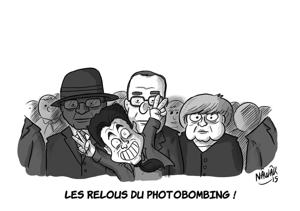 """""""Les relous du photobombing, on en parle ? #Sarkozy  (oui, je sais, elle était facile :) )"""""""