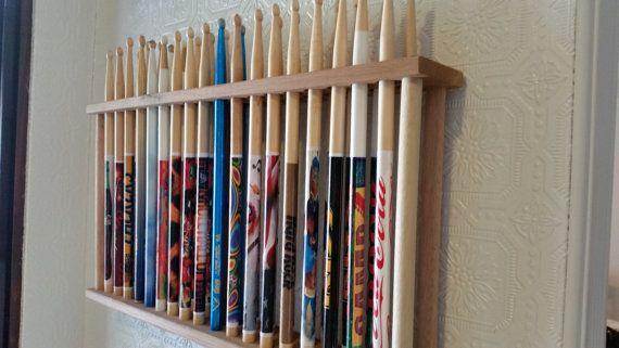 drum stick display drumstick holder hold 18 pairs by gnfstore dom 39 s room wooden diy drums. Black Bedroom Furniture Sets. Home Design Ideas