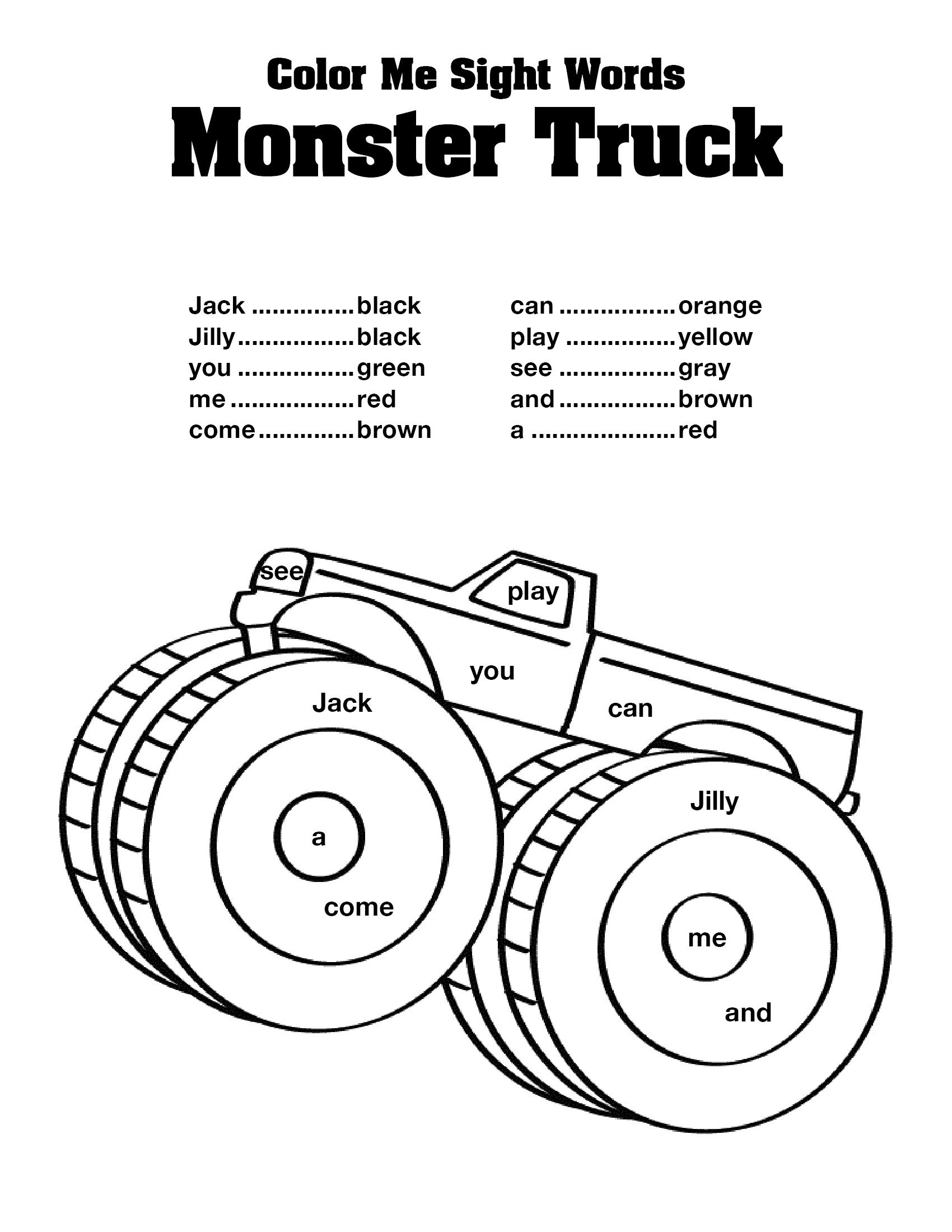 coloring pages sight words - photo#4