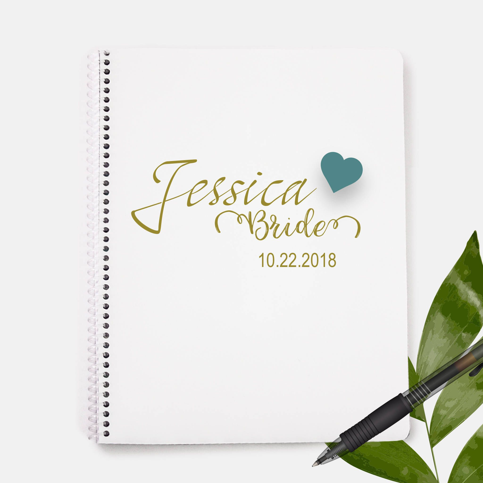 wedding shower poem ideas%0A Bride Notebook   Status Gift   Bridal Party Gift   Wedding Gift    Bachelorette Party Gift