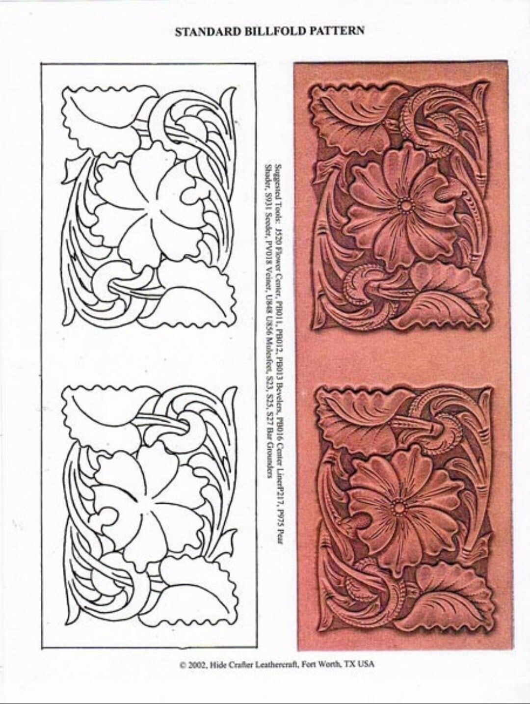 Wallet tooling pattern Leather tooling patterns, Tooling