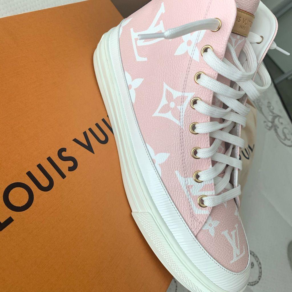 Louis Vuitton Shoes   Louis Vuitton High Top Sneakers   Color: White/Pink   Size…