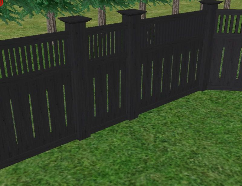 Privacy Fence With Black Solid Stain Outdoors Privacy