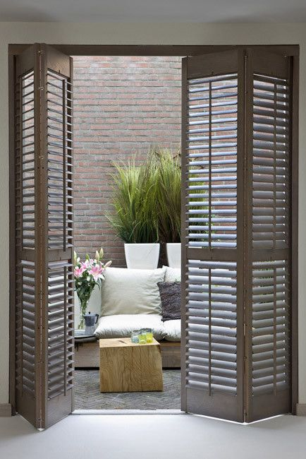 Norman Wood Plantation Shutters | Blinds.com & Wood Shutter | Patios Wood shutters and Doors