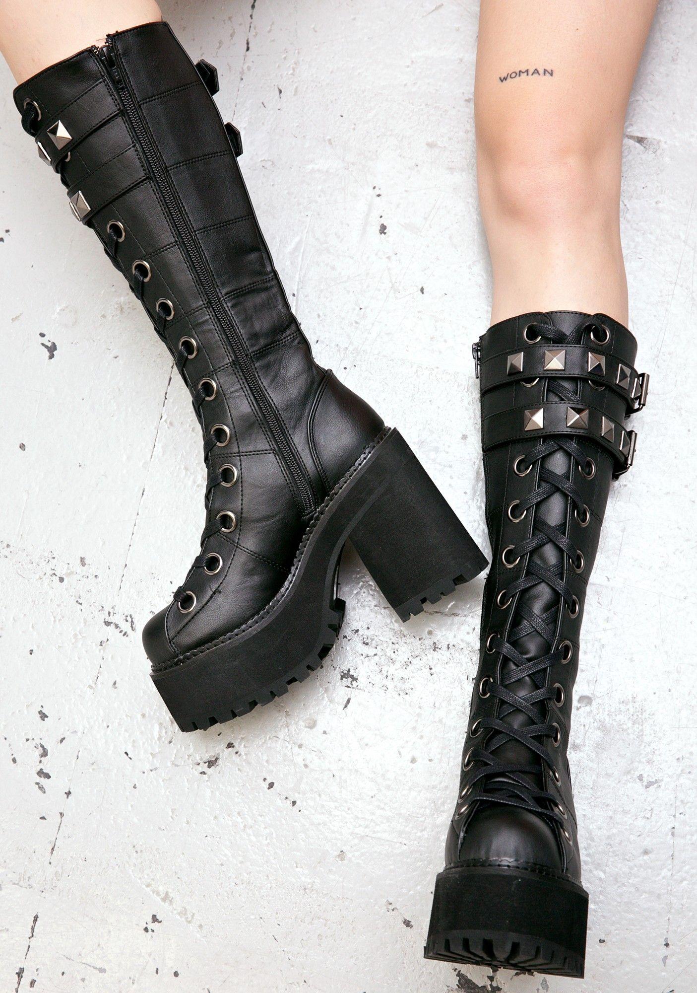 4d1ac122ca Demonia Paranoia Platform Boots | clothes in 2019 | Platform boots ...