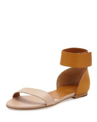 Gala+Two-Tone+Leather+Sandal 07010738908