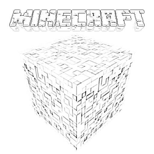 View And Print A Larger Version Of The Minecraft Logo Coloring Page