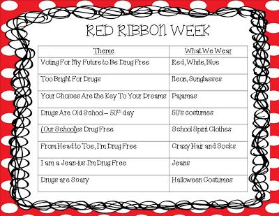 Red Ribbon Week #characterdayspiritweek