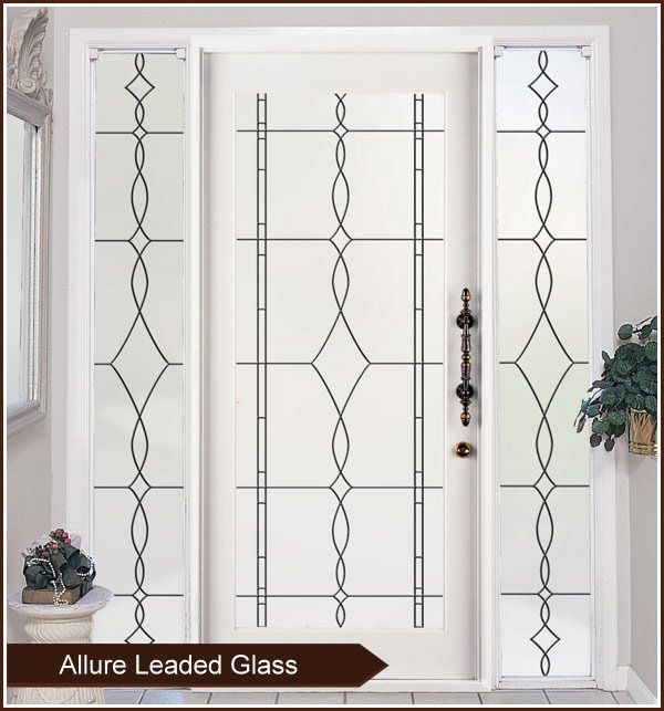 Allure Leaded Glass Privacy Window Film Static Cling Window