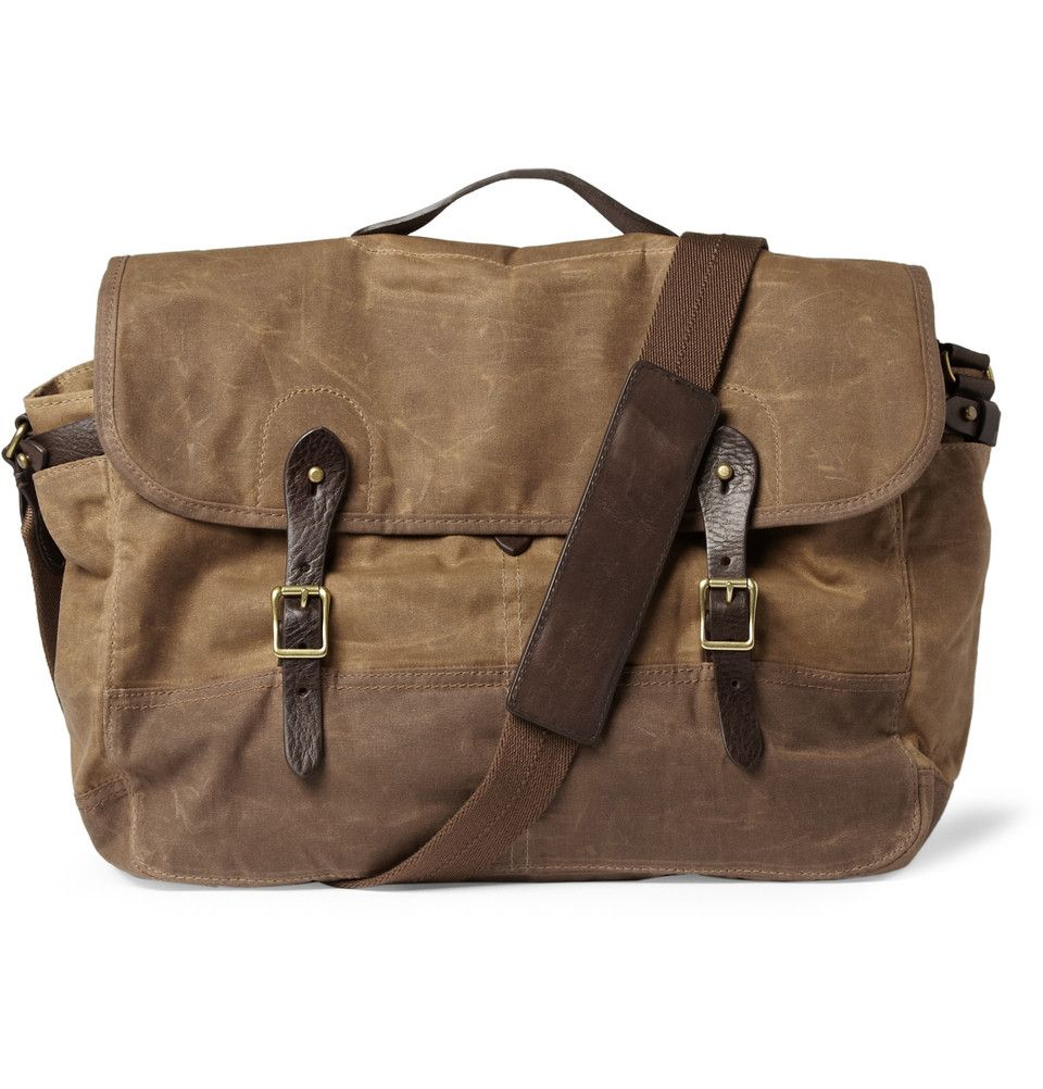 J.CrewAbingdon Waxed Cotton-Canvas Messenger Bag|MR PORTER