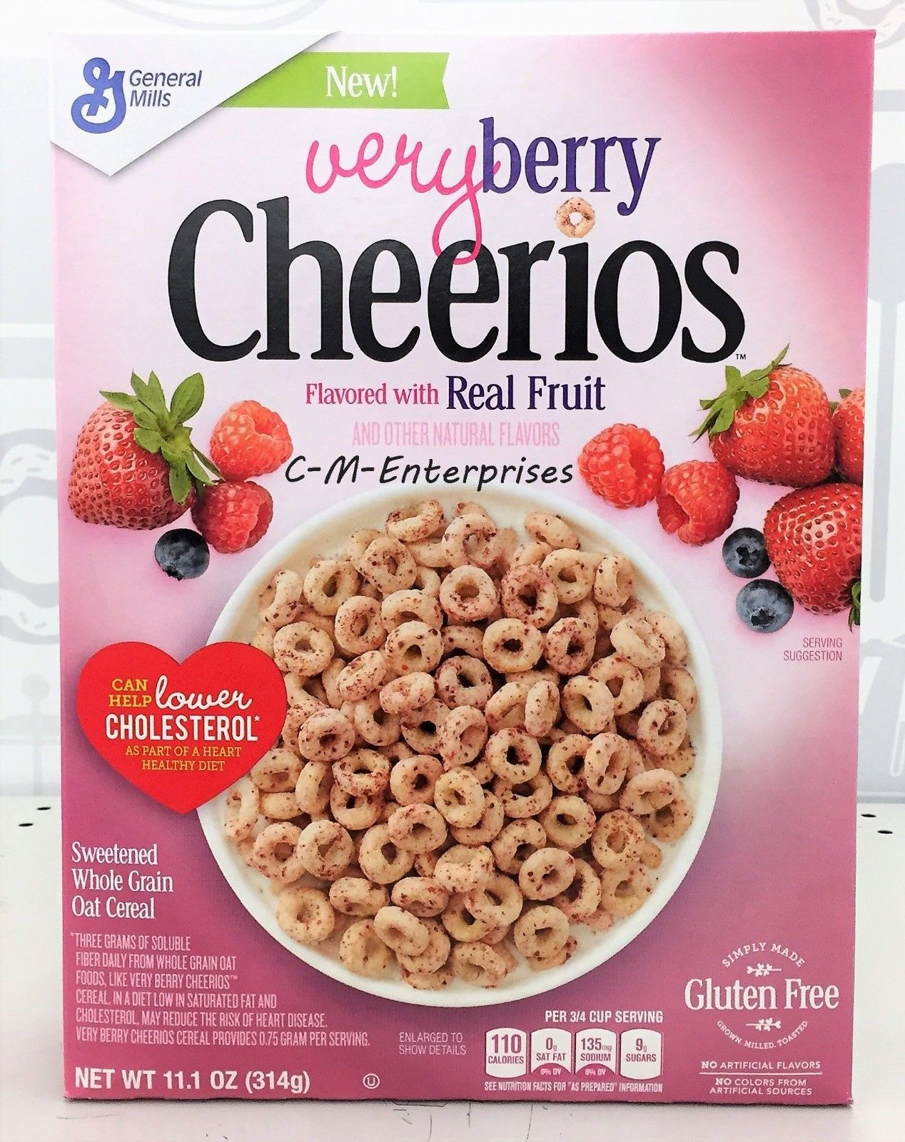 $6.17 - Cheerios Very Berry Sweetened Whole Grain Oat Cereal 11.1 Oz General Mills #ebay