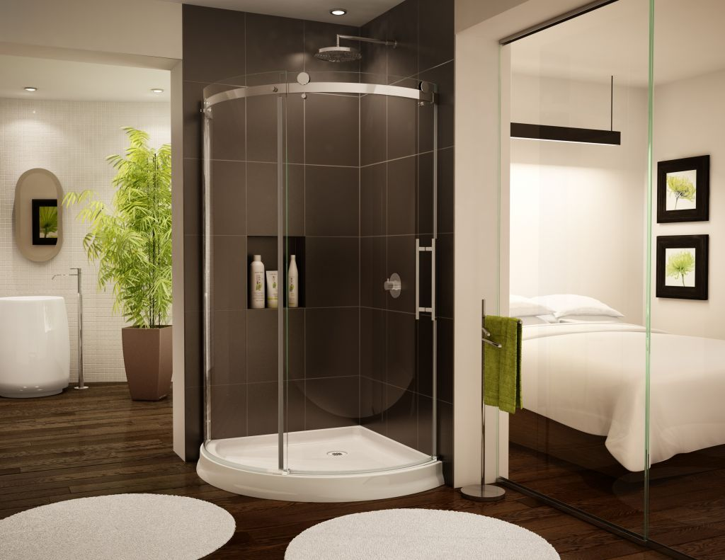 Curved u0026 Bent Glass Shower Enclosures u2013 Cool but can they be affordable? : curved doors - pezcame.com