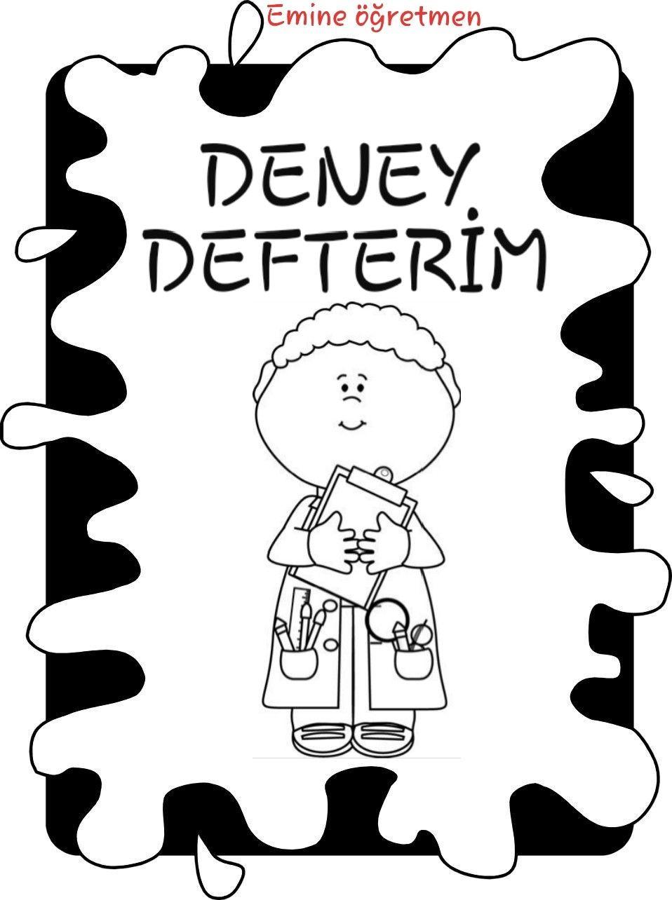 Olusturacagim Deney Defterlerime Kapak Boyama Kitaplari Defter