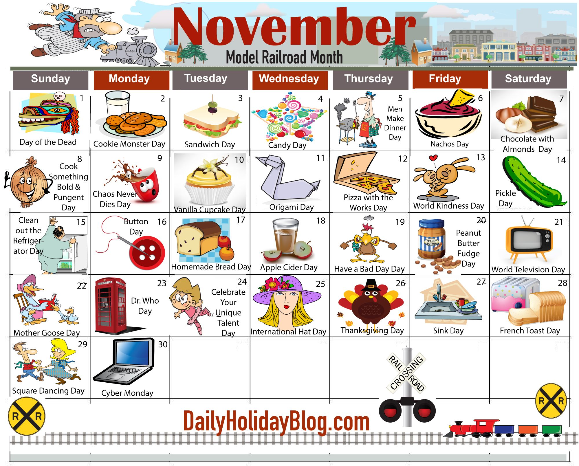 November Daily Holiday Calendar New Holidays And Traditions From
