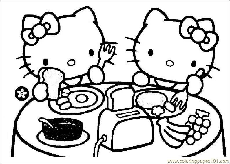 Awesome Coloring Hello Kitty Printable Coloring Pages On Free